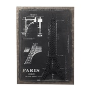 Sterling Industries 58251-100079 Surveyors Chalk Sketch and Outline - Paris Wall Decor, 33H x 24W