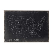 Sterling Industries 58251-100069 Chalk Outline Map Of Usa Wall Decor, 48H x 34W