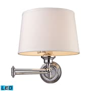 "Elk Lighting Westbrook 58211210-1-LED9 15"" 1 Light Swing Arm Lamp, Polished Chrome"