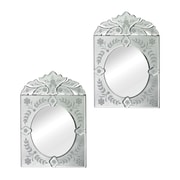 Sterling Industries 582114-48-S29 19H x 13W Billericay Mini Venetian Arched/Crowned Wall Mirror, Set of 2