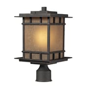 "Elk Lighting Newlton 58245014-19 16"" 1 Light Post Mount, Weathered Charcoal"