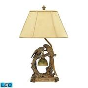 "Dimond Lighting Twin Parrots 58291-507-LED9 25"" Table Lamp, Atlanta Bronze"