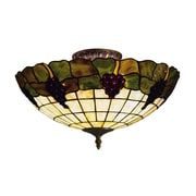 "Elk Lighting Grapevine 582931-VA9 8"" 3 Light Semi Flush Mount, Vintage Antique"