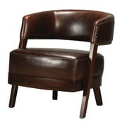 Sterling Industries Industries 582133-0099 Mahogany/Dark Tan Barrel Chair