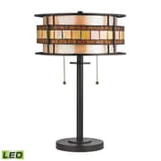 "Elk Lighting Annondale 58270191-2-LED9 14"" Table Lamp, Tiffany Bronze"