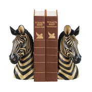 Sterling Industries 58293-12209 Set of 2 Zebra Decorative Bookends, Black/Gold