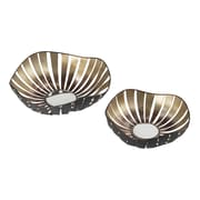 Sterling Industries Handforth 582138-034-S29 Gold Metal Accent Trays, Set of 2