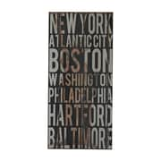 "Sterling Industries 58251-101149 ""American Cities 1"" Wall Decor, 32""H x 15""W"