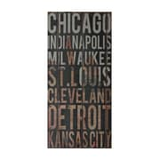 Sterling Industries 58251-101159 American Cities 2 Wall Decor, 32H x 15W