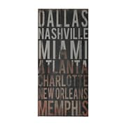 """Sterling Industries 58251-101169 """"American Cities 3"""" Wall Decor, 32""""H x 15""""W"""