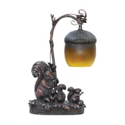 "Sterling Industries Squirrel Acorn Light 58291-7689 15"" Decorative Table Lamp, Burwell Bronze"