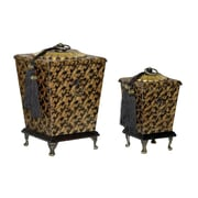 Sterling Industries 58289-15859 Gold Fabric/Metal Decorative Box, Set of 2