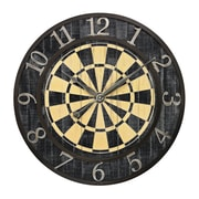 Sterling Industries 58226-86719 Dart Board Wall Clock, Black/Yellow Face