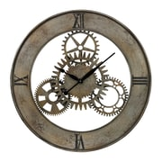 Sterling Industries 58226-86669 Industrial Cog Wall Clock, Silver Face