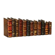 Sterling Industries 58289-28589 Set of 12 Medium Density Fiberboard Leather Bound Books