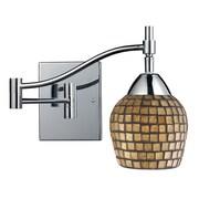 Elk Lighting Celina 210151-1PC-GLD9 14 1 Light Swing Arm Lamp, Gold Leaf Shade