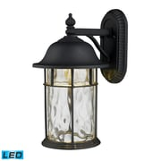 "Elk Lighting Lapuente 58242260-19 14"" x 8"" 1 Light Armed Sconce, Matte Black"