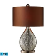 """Dimond Lighting Sovereign 582D1889-LED9 23"""" Table Lamp, Antique Mercury/Coffee Plating"""