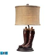 "Dimond Lighting Wood River 293-10012-LED9 22"" Riding Boots Table Lamp, Polished Tan"