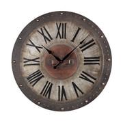 Sterling Industries 582128-10059 Restoration Metal Wall Clock, Brown Face