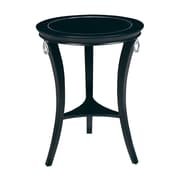 """Sterling Industries 58260413619 24"""" Round Orbis Accent Table, Black"""