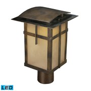 "Elk Lighting San Fernando 58264013-19 14"" 1 Light Post Mount, Hazelnut Bronze"
