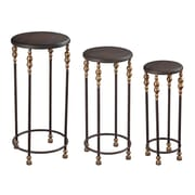 Sterling Industries 58251-10137-S39 Set of 3 Round Nesting Table, Dark Bronze/Gold