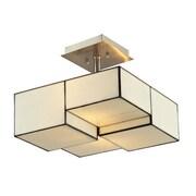 "Elk Lighting Cubist 58272061-29 11"" 2 Light Semi Flush Mount, Brushed Nickel"