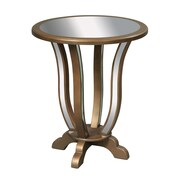 """Sterling Industries 58260436219 28"""" Round Manama Accent Table, Antique Gold"""