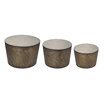 Sterling Industries Shaw Metal Sets Table, Brown, 3/Set (582138-013-S39) 1393174