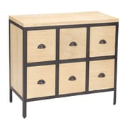 Sterling Industries Vina 582150-0219 6 Drawers Accent Chest, Natural