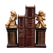 Sterling Industries 58291-22219 Set of 2 Thinking Cherub Decorative Bookends, Brown/Gold
