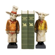 Sterling Industries 5824-3033009 Set of 2 Chef Pig Decorative Bookends, Multi