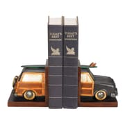 Sterling Industries 58291-49219 Set of 2 Vintage Vacation Decorative Bookends, Multi