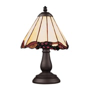 "Elk Lighting/Landmark Lighting Mix and Match 582080-TB-039 13"" Incandescent Table Lamp, Tiffany Bronze"