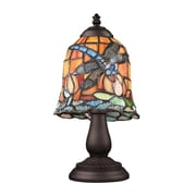 "Elk Lighting/Landmark Lighting Mix and Match 582080-TB-129 13"" Incandescent Table Lamp, Tiffany Bronze"