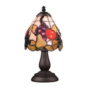 "Elk Lighting/Landmark Lighting Mix and Match 582080-TB-199 13"" Incandescent Table Lamp, Tiffany Bronze"