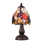 "Elk Lighting/Landmark Lighting Mix and Match 582080-TB-199 13"" Incandescent Table Lamp, Tiffany Bronze"
