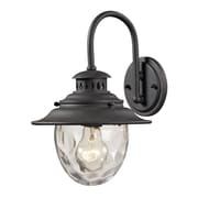 """Elk Lighting Searsport 58245040-19 13"""" x 8"""" 1 Light Armed Sconce, Weathered Charcoal"""
