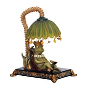 "Sterling Industries Sleeping King Frog 58291-7409 12"" Decorative Table Lamp, Greenwich"