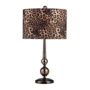"""Dimond Lighting Alliance 582111-10979 23"""" Incandescent Table Lamp, Coffee Plating/Smoked Glass"""