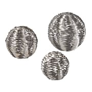Sterling Industries 582138-103-S39 10 Set of 2 Metal Work Object Sculpture, Silver Leaf