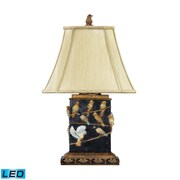 "Dimond Lighting Birds On A Branch 58293-530-LED9 20"" Table Lamp, Gold/Black"