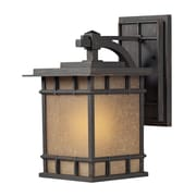 "Elk Lighting Newlton 58245011-19 15"" x 9"" 1 Light Armed Sconce, Weathered Charcoal"