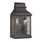 "Elk Lighting Forged Jefferson 58247070-29 11"" x 6"" 2 Light Wall Sconce, Charcoal"