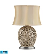 "Dimond Lighting Serene 582D2168-LED9 25"" Table Lamp, Pearlescent Cream"