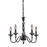 Sterling Industries Traditional 582122-0119 17 5 Light Pendant, Oil Rubbed Bronze