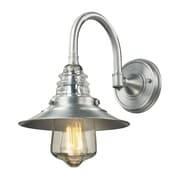 "Elk Lighting Insulator Glass 58266702-19 14"" x 9"" 1 Light Wall Sconce, Brushed Aluminum"