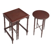 """Sterling Industries 58260032189 24"""" Set of 2 Round/Square Nesting Table, Fruitwood"""