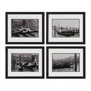 "Sterling Industries ""Waterways Of Venice I, II, III, IV - Set of 4"" Framed Wall Art, 16""H x 19""W"